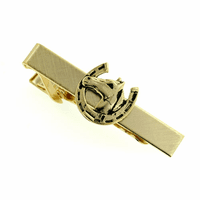 Gold Plated Horse Themed Tie Clip