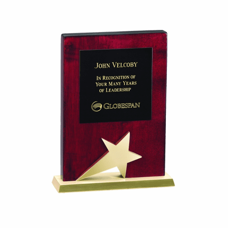 Gold Star Recognition Plaque