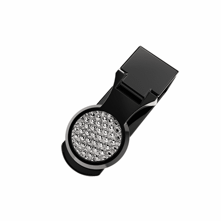 Golf Ball Engraved Money Clip In Black