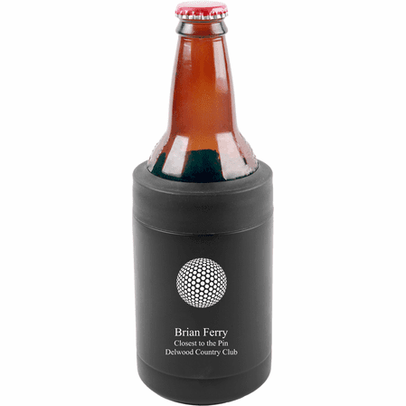 Golf Ball Personalized Insulated Can & Bottle Holder