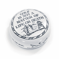 Golf Is Not A Matter Of Life Or Death Desktop Paperweight
