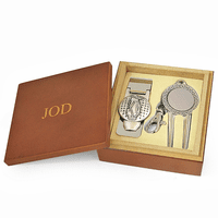 Golfer's Personalized Money Clip & Divot Tool Keychain Gift Set