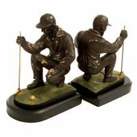 Golfer Sizing Up The Hole Bookends - Discontinued