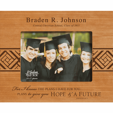 """Graduate's Personalized 5"""" x 7"""" Picture Frame"""