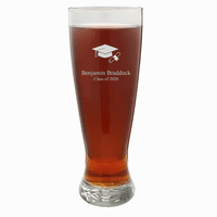 Graduate Theme Personalized 22 Ounce Grand Pilsner Glass
