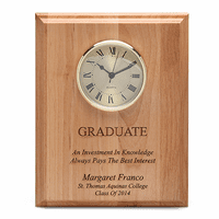 Graduate Theme Recognition Wall Clock & Plaque