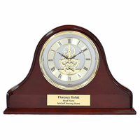 Grand Admiral Piano Finish Personalized Mantel Clock