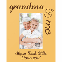 "Grandma & Me Personalized 4"" x 6"" Picture Frame"