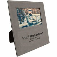 "Gray 4"" x 6"" Picture Frame with Large Personalization Area"