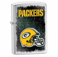 Green Bay Packers NFL Brushed Chrome Zippo Lighter - ID# Z742