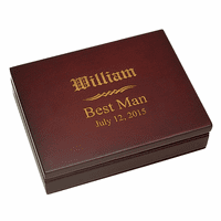 Groomsman's Gift  Rosewood Finish Playing Card Box