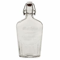Groomsman's Personalized Large Vintage Glass Flask