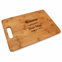 Groomsmen Gift Bamboo Cutting Board With Handle