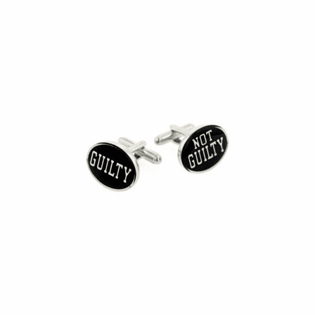 Guilty and not guilty legal lawyer cufflinks