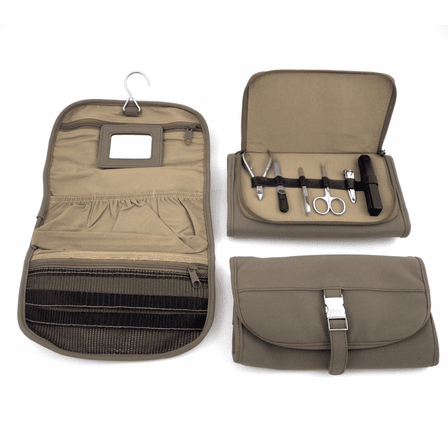 Hanging Toiletry Bag With Manicure Set