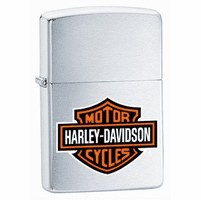 Harley Davidson Logo Brushed Chrome Zippo Lighter - ID# 200HD-H252
