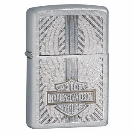 Harley Davidson Motor Cycles Chrome Arch Zippo Lighter - ID# 28486 - Discontinued