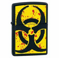 Hazardous Black Matte Zippo Lighter - ID# 24330