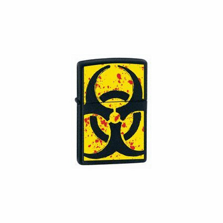 Hazardous Black Matte Zippo Lighter - ID# 24330 - Discontinued