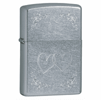 Heart to Heart Street Chrome Zippo Lighter - ID# 24016