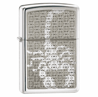 Hidden Scorpion High Polish Chrome Zippo Lighter - ID# 28053
