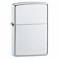 High Polish Sterling Silver Zippo Lighter - ID# 15