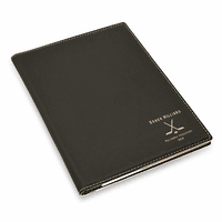 Hockey Coach's Personalized Black Leatherette Portfolio