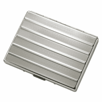 Horizontal Striped Single Sided Cigarette Case for Kings and 100s