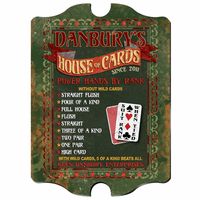 House Of Cards  Vintage Pub Sign - Free Personalization