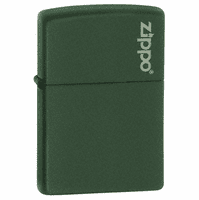 Hunter Green Matte with Zippo Logo Zippo Lighter - ID# 221ZL