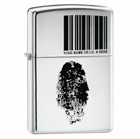 I.D. High Polish Chrome Zippo Lighter - ID# 20836