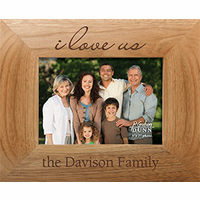"I Love Us 4"" x 6"" Personalized Picture Frame"