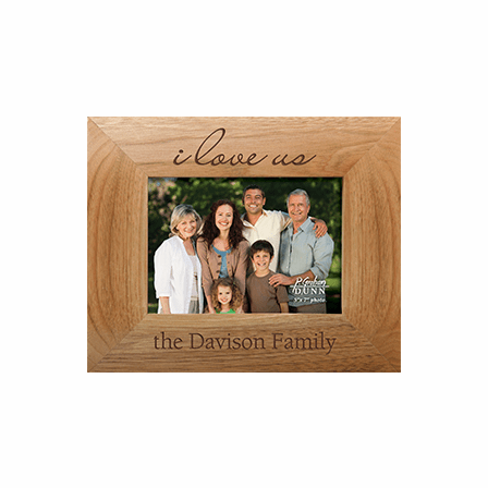 """I Love Us 4"""" x 6"""" Personalized Picture Frame"""