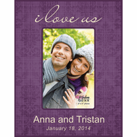"""I Love Us Personalized 4"""" x 6"""" Picture Frame - Discontinued"""