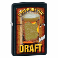 I Support The Draft Black Matte Zippo Lighter - ID# 28294