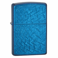 Iced Diamonds Cerulean Zippo Lighter - ID# 28341