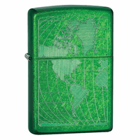 Iced World Map Meadow Zippo Lighter - ID# 28340