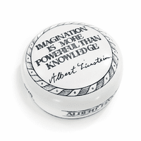 Imagination Is More Powerful Than Knowledge Desktop Paperweight