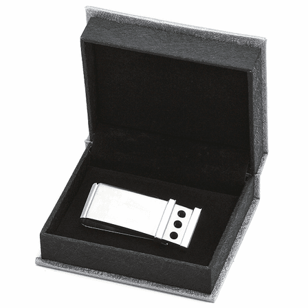 Industrial Engraved French Fold Money Clip