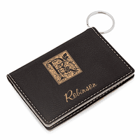 Initial Monogram Black ID Holder & Keychain