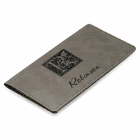 Initial Monogram Gray Checkbook Cover