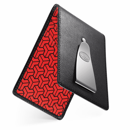 Insignia Credit Card Holder & Money Clip in Red by Dalvey