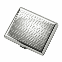 Interlocking Art Deco Design Double Sided Design Cigarette Case for Kings and 100s