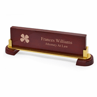 Irish Desktop Walnut Name Bar