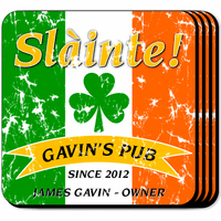 Irish Flag Coaster Set - Free Personalization
