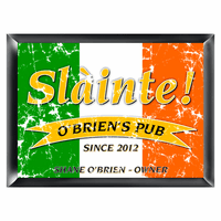 Irish Flag Pub Sign - Free Personalization