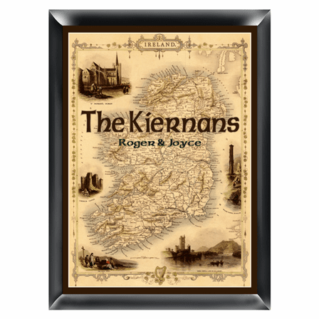 Irish Map Family Sign - Free Personalization