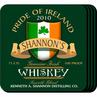 Irish Whiskey Coaster Set - Free Personalization