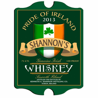 Irish Whiskey Vintage Pub Sign - Free Personalization