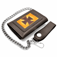 Iron Cross Trifold Wallet with Chain - Discontinued